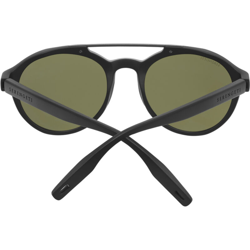 SERENGETI LEANDRO Men Round Oval Sunglasses BLACK POLARIZED SEDONA PINK 8593 M